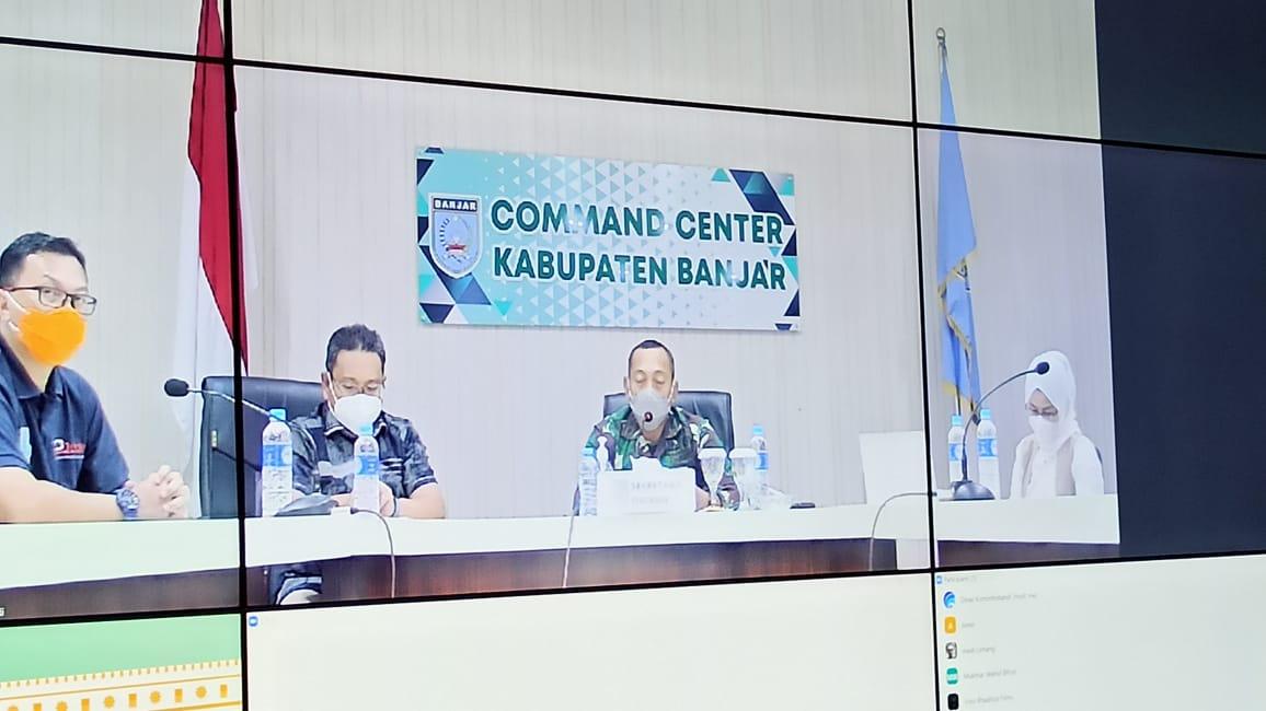Posko Terpadu laksanakan Konferensi Pers terkait data dan penanganan Banjir Kabupaten Banjar